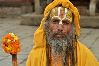 A gazing holy man captured in passing during a break from the film festival in Kathmandu